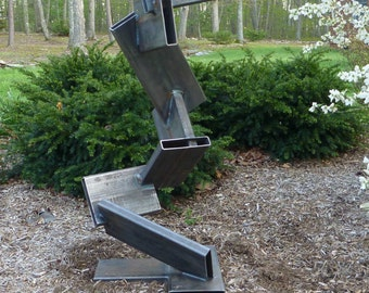 Large outdoor abstract metal scultpure, yard art or interior art
