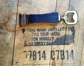 Whiskey Barrel Bottle Opener (metal, black, oak)