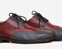 Andasolo handmade round-tip classic oxford style shoes