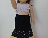 Doll maxi skirt in black and yellow