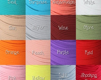 1/8th inch flat elastic - 10 yards - you choose color(s) for DIY headbands
