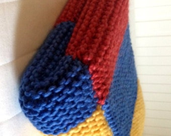 "Patchwork Wool Blanket - 44"" x 35"""