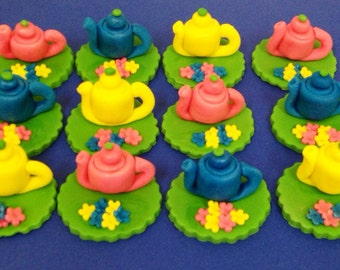 Fondant Toppers - Tea Pots