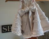 Christmas Tree Skirt in Pretty Oatmeal (tan) Rustic Christmas Handmade