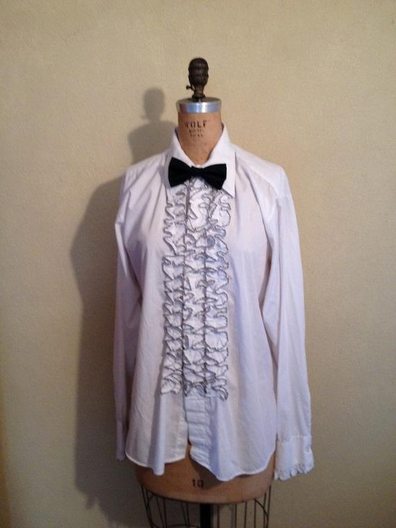 Ruffled Tuxedo Shirt uk Ruffled Tuxedo Shirt White