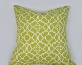 Decorative Pillow Cushion Covers - Accent Pillow - Throw Pillow - Lovely Lattice Green - Indoor Outdoor