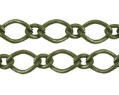 FREE SHIPPING within USA 10 ft spool Antique Bronze Mother-Son cable/ cross Chain,3.5x6mm, 2.5x3mm