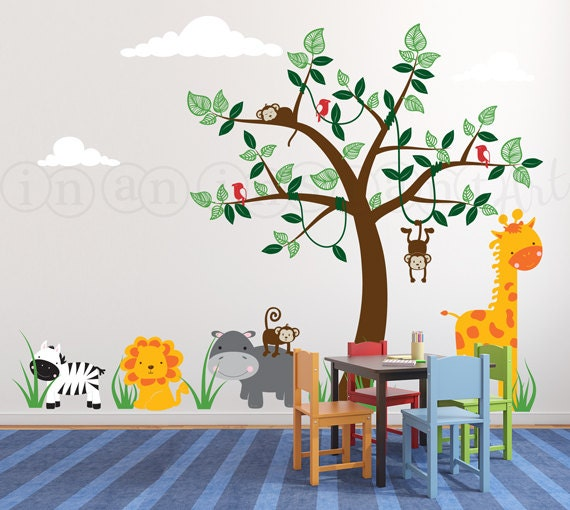 Safari Wall Stickers For Nursery Uk  Color The Walls Of Your House - Nursery wall decals uk