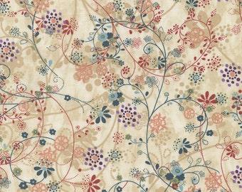 Timeless Treasures - Mood Swings - Floral Vines - Tea