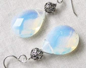 Opalite and Sterling Silver Earrings