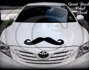 Giant Car Mustache Vinyl Decal-Little Man Party-Mustache sticker-Mustache party-Little Man-The Dapper Stache-Mustache theme-wall decor