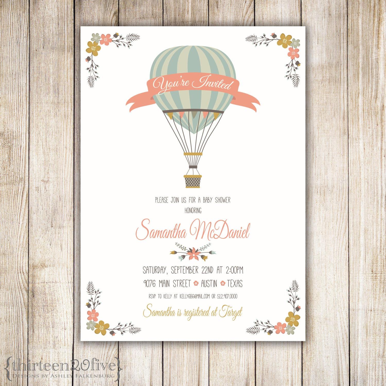 hot air balloon baby shower invitation diy 013