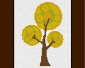 Counted Cross Stitch Pattern - Cross Stitch Pattern Autumn Tree