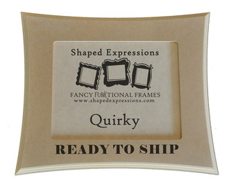 READY TO SHIP - 4x4 Quirky - unfinished picture frame