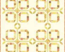 Al Fresco Layer Cake or Charm Pack Quilt - Rings Quilt Pattern - Fig Tree & Co - Uses Mirabelle Fabrics from Moda Fabrics