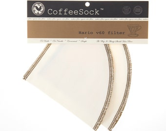 Reusable Organic Cotton Hario v60-01 style coffee filters