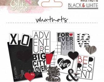 SALE - BLACK & WHITE Glitz Design Whatnots