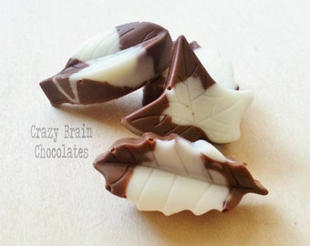 Solid Chocolate Multi Colored Leaves (12)