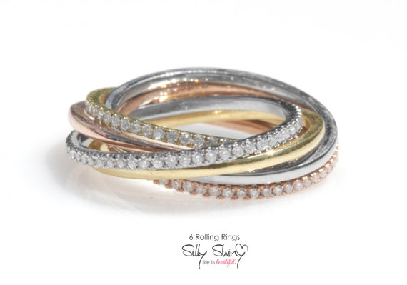 tricolor 6 rolling rings made from by