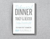 Casual Rehearsal Dinner Invitation - DIY Editable MS Word Template - Instant Download