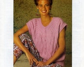 Solo Yarns Knitting Pattern 3010 : Lady's Danish Design Sweaters (28-46in)