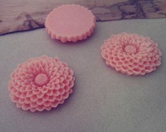 5pcs  orange   Resin Flowers 37mm