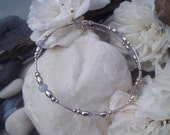 Sterling Silver bangle, Blue Lace Agate