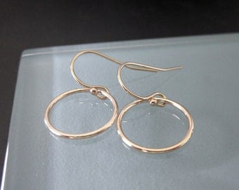 Simple Gold Hoop Earrings - Contemporary - Chic - Minimalist
