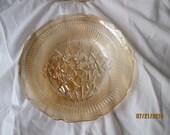 "Vintage Jeanette Glass ""Iris"" Iridescent Rimmed Soup Bowls - Set of 2 - 1970's"