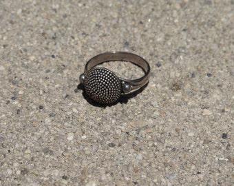 Pretty Armadillo Patterned Shield Ring