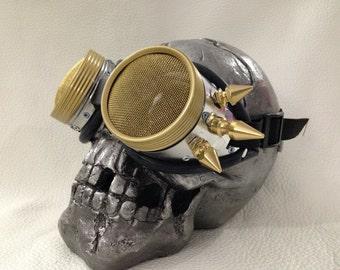 Burner goggles - Metal punk stinger spikes Waspeye lens
