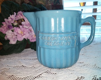Carbon County Creamery - Blue pottery pitcher