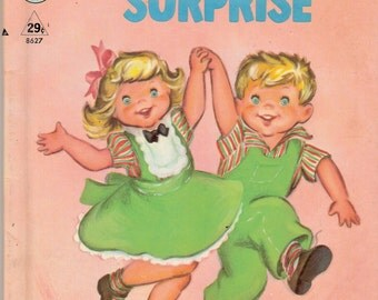 Penny and Pete's Surprise Vintage Rand McNally Tip Top Elf Book Illustrated by Clare McKinley