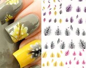 Feather Nail Art Water Decal Stickers for Tips Decoration