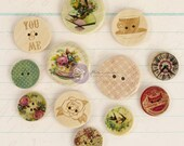 Prima Delight Collection Wooden Buttons by Jodie Lee