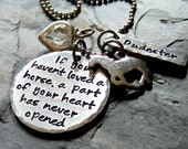 Personalized Handstamped Horse Necklace-Personalized Pet lover-Pet Rememberance-Horse Jewelry