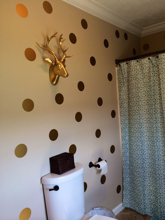 or polka dots vinyle wall stickers autocollants or or dot. Black Bedroom Furniture Sets. Home Design Ideas