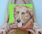 Golden Retriever painting  Golden Retriever art Custom Dog Portrait Custom pet portrait Original dog paintings  dog portrait