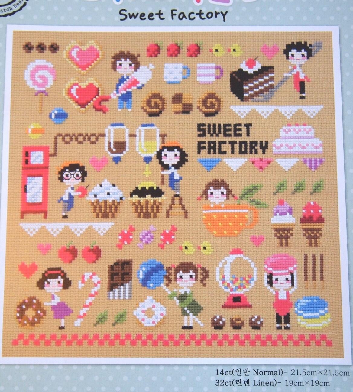 Modern cross stitch patterns and kits sweet factory