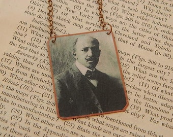 WEB DuBois necklace mixed media jewelry Literature jewelry African American History