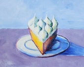 Dessert Painting - Lemon Meringue Pie Still Life - Acrylic -8 x 10