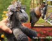 YOUR Horse as a Toy--Custom Knit Markings Colorings Stuffed Toy Custom Horse Toy Gift
