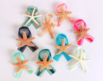 Beach Wedding Boutonnieres with Starfish