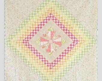 Modern Rainbow Quilt - Baby Crib Quilt - Toddler Quilt - Modern Cross Quilt - Play Mat