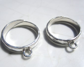 Adjustable RING BLANKS, Sterling Silver Cha Cha Ring