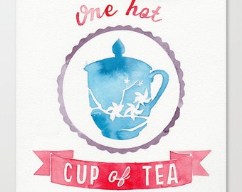You are one hot cup of tea // Chromogenic Photographic Print