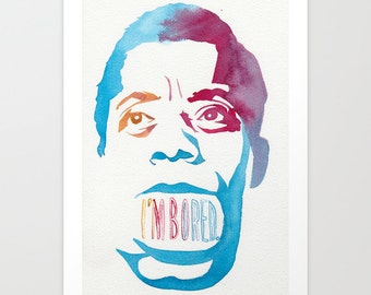 Last Words of James Baldwin // Chromogenic Photographic Print