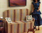 Love Seat and Kens Den Plastic Canvas Furniture Patterns Annies Attic  FP20-02 and FP22-02