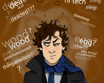 Drunk Sherlock print