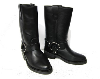 SALE % Harness Boots Motorcycle Style Amazing Slightly Pointed Shape/Very Feminine Version